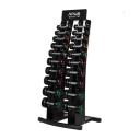 Гантельный ряд 1-10 кг со стойкой 10 пар Apus Sport Palladium Dumbbell Rack