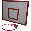 Баскетбольный щит металлический 0,8х1,0м с кольцом BasketSport БМ-100
