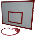 Баскетбольный щит металлический 0,9х1,2м с кольцом BasketSport БМ-120