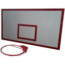 Баскетбольный щит металлический 1,0х1,8м с кольцом BasketSport БМ-180