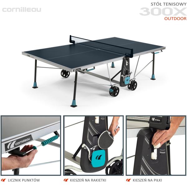 Всепогодный теннисный стол Cornilleau 300X синий