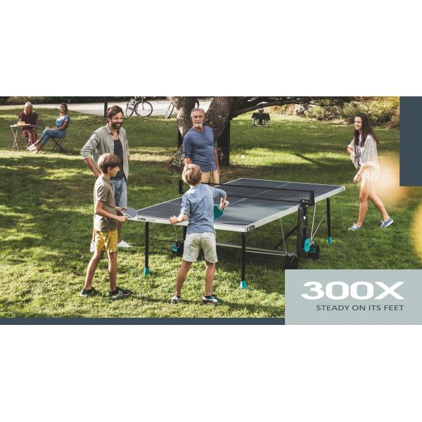 Всепогодный теннисный стол Cornilleau 300X DELTA серый