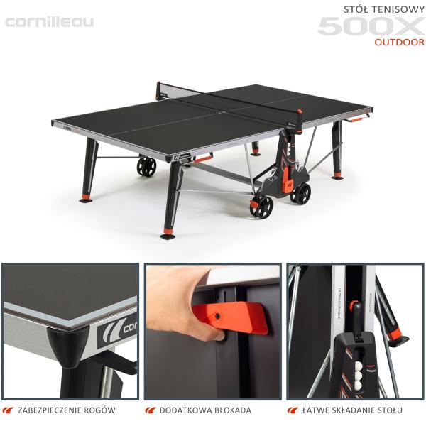 Всепогодный теннисный стол Cornilleau 500X черный