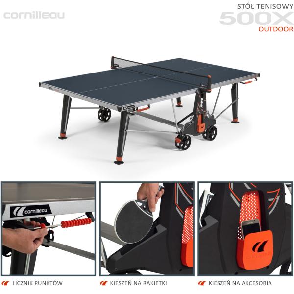 Всепогодный теннисный стол Cornilleau 500X синий