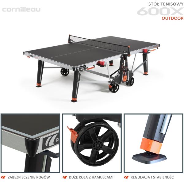 Всепогодный теннисный стол Cornilleau 600X черный