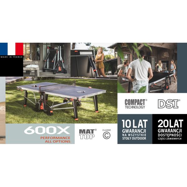 Всепогодный теннисный стол Cornilleau 600X синий