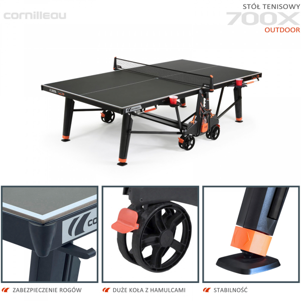 Всепогодный теннисный стол Cornilleau 700X черный