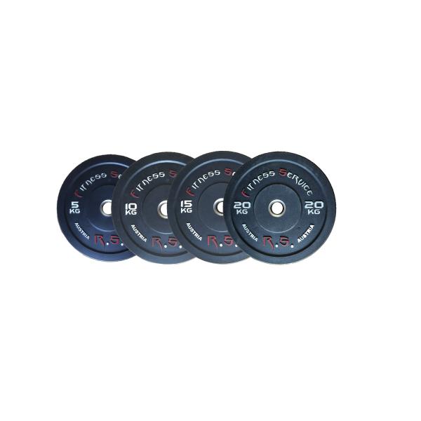 Комплект бамперных дисков для кроссфита Fitness Service 80 кг