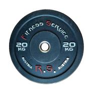 Бамперный диск для кроссфита Fitness Service 20 кг