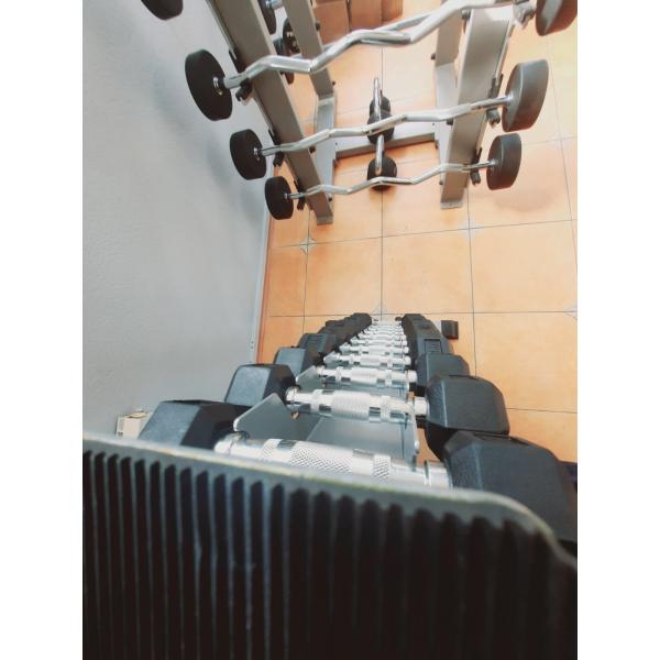 Гантельный ряд 1-10 кг Fitnessport D-03 со стойкой