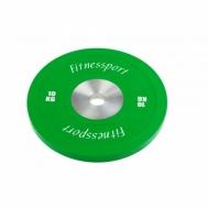 Диск для кроссфита соревновательный цветной 10 кг Fitnessport RCP 22-10
