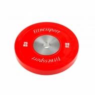 Диск для кроссфита соревновательный цветной 25 кг Fitnessport RCP 22-25