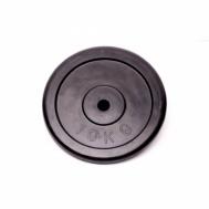Диск домашний обрезиненный черный 10кг Fitnessport RCP10-10