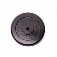 Диск домашний обрезиненный черный 15кг Fitnessport RCP10-15