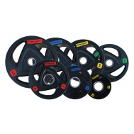 Диск олимпийский обрезиненный черный 1.25-25 кг Fitnessport RCP17