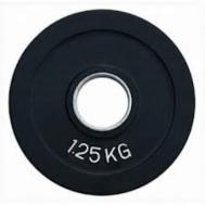 Диск олимпийский обрезиненный черный 1,25 кг Fitnessport RCP18-1,25