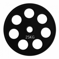 Диск олимпийский обрезиненный черный 25 кг Fitnessport RCP18-25