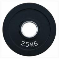 Диск олимпийский обрезиненный цветной 2.5 кг Fitnessport RCP19-2,5