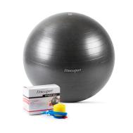 Мяч гимнастический черный 65 см.  (Антиразрыв) Fitnessport GB-65