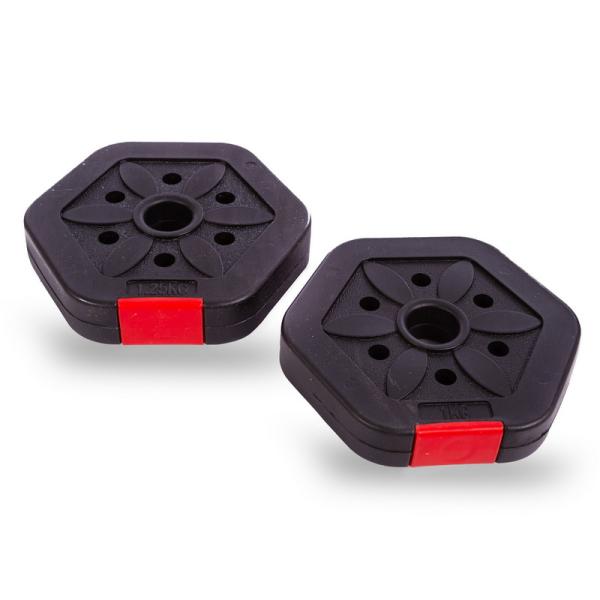 Гантели разборные Fitnessport GP-10 10 кг пластиковые