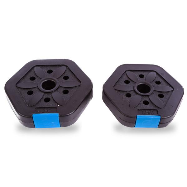Гантели разборные Fitnessport GP-15 15 кг пластиковые
