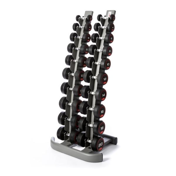 Гантельный ряд 1-10кг + стойка Fitnessport FDS-01