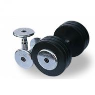 Обрезиненный гантельный ряд от 2.5 до 25 кг (10 пар) Fitnessport FDS-03 2,5/25kg