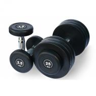 Обрезиненный гантельный ряд от 2.5 до 25 кг (10 пар) Fitnessport FDS-09 2,5/25kg