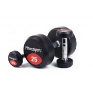 Обрезиненный гантельный ряд от 2.5 до 25 кг (10 пар) Fitnessport FDS-10 2,5/25kg