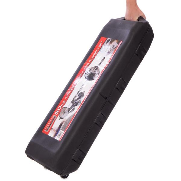Набор гантелей разборных Fitnessport NGC-50 50 кг хромированные