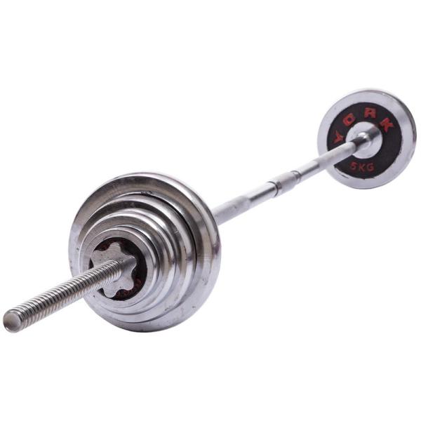 Набор гантелей разборных Fitnessport NGC-55 55 кг хромированные