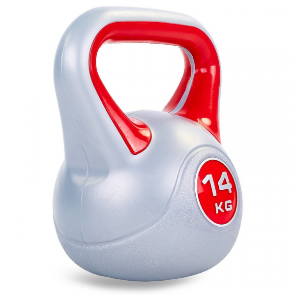 Гиря пластиковая 14 кг Fitnessport PR-01-14kg
