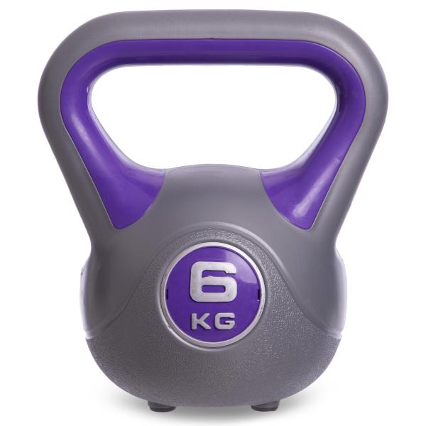 Гиря пластиковая 6 кг Fitnessport PR-01-6kg