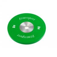 Диск для кроссфита соревновательный цветной 10 кг Fitnessport RCP22-10