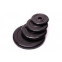 Диск домашний обрезиненный черный 5 кг Fitnessport RCP10-5