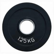 Диск олимпийский обрезиненный черный 1,25 кг Fitnessport RCP18-1.25
