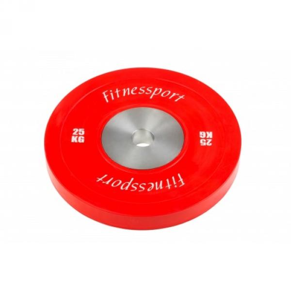 Набор бамперных дисков для кроссфит 5-25 кг Fitnessport RCP22