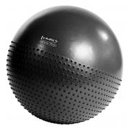 Мяч для фитнеса (фитбол) полумассажный HMS YB03 75 см Anti-Burst Black