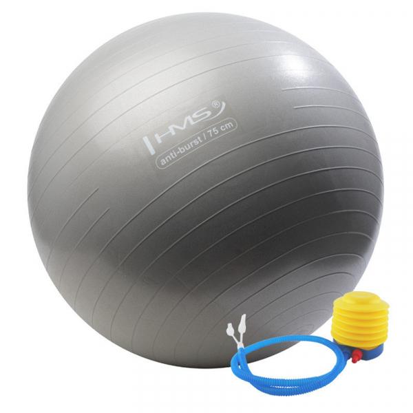 Мяч для фитнеса (фитбол) HMS YB02 75 см Anti-Burst Silver
