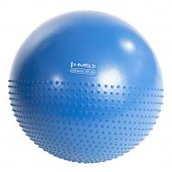 Мяч для фитнеса (фитбол) полумассажный HMS YB03 55 см Anti-Burst Blue