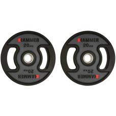 Олимпийские диски профессиональные Hammer PU Weight Discs 2*20 kg (4710)