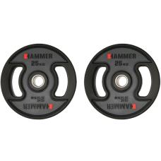 Олимпийские диски профессиональные Hammer PU Weight Discs 2*25 kg (4711)