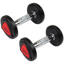 Гантели профессиональные Hammer PU Compact Dumbbells 2*2,5 kg (4741)