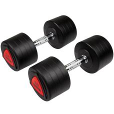 Гантели профессиональные Hammer PU Compact Dumbbells 2*25 kg (4750)