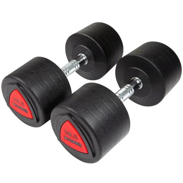 Гантели профессиональные Hammer PU Compact Dumbbells 2*32,5 kg (4753)