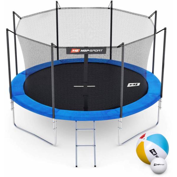 Батут Hop-Sport 10ft (305cm) синий с внутренней сеткой (4 ноги)