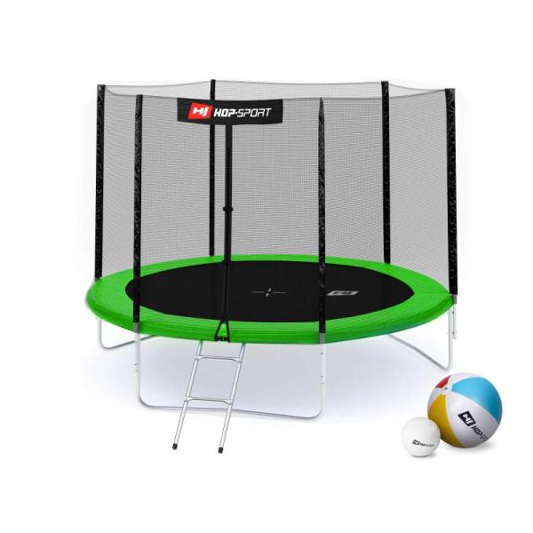 Батут Hop-Sport 10ft (305cm) зеленый с внешней сеткой