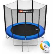 Батут Hop-Sport 8ft (244cm) синий с внешней сеткой