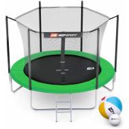 Батут Hop-Sport 8ft (244cm) зеленый с внутренней сеткой