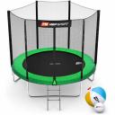 Батут Hop-Sport 8ft (244cm) зеленый с внешней сеткой